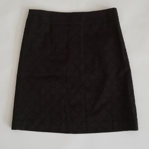 NWT Loft Black Textured Skirt Size 14P